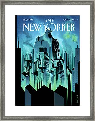 New Yorker October 10th, 2011 Framed Print by Eric Drooker