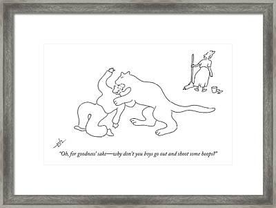 Oh, For Goodness' Sake - Why Don't You Boys Go Framed Print by Erik Hilgerdt