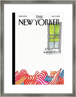 New Yorker July 4th, 2011 Framed Print by George Booth