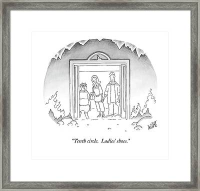 Tenth Circle.  Ladies' Shoes Framed Print by Glen Le Lievre