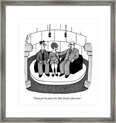 Thanks For The Advice Framed Print by J.C.  Duffy