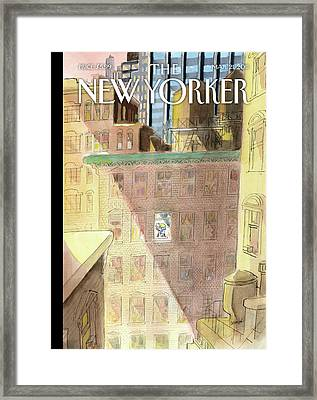 New Yorker March 21st, 2011 Framed Print by Jean-Jacques Sempe