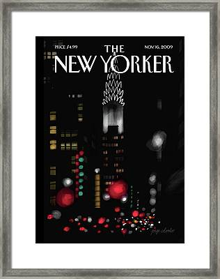 New Yorker November 16th, 2009 Framed Print by Jorge Colombo-Gomes