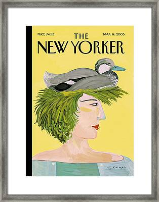 New Yorker March 14th, 2005 Framed Print by Maira Kalman