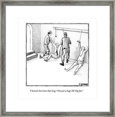 I Haven't Been Here That Long - I'm Just A Huge Framed Print by Matthew Diffee