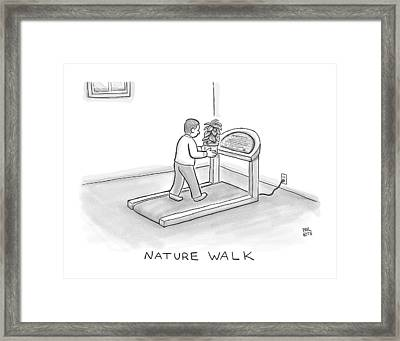 New Yorker November 7th, 2016 Framed Print by Paul Noth