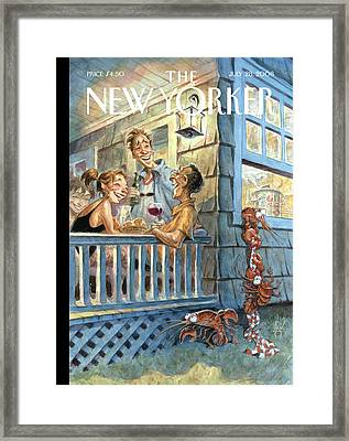 New Yorker July 28th, 2008 Framed Print by Peter de Seve
