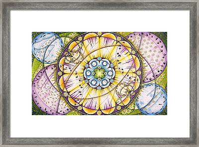 Up And Down In And Out Framed Print by Ida  Novotna