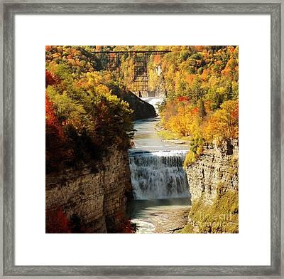 Upper Falls Framed Print by Kathleen Struckle