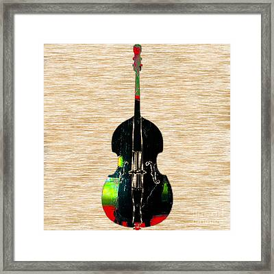 Upright Bass Framed Print