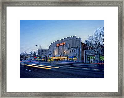 Uptown Theatre In Washington Dc Framed Print by Mountain Dreams