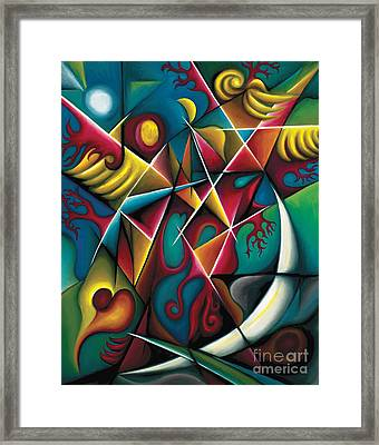 Upwards Through The Brambles Framed Print by Tiffany Davis-Rustam