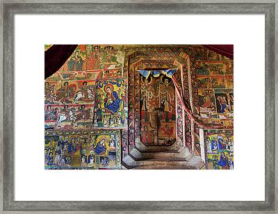 Ura Kidane Meret Monastery, Lake Tana Framed Print by Martin Zwick