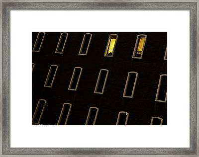 Framed Print featuring the photograph Urban Abstract 3 by Michael Nowotny