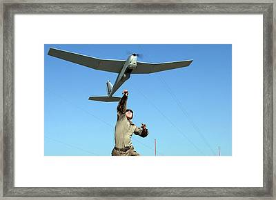 Us Military Surveillance Drone Framed Print