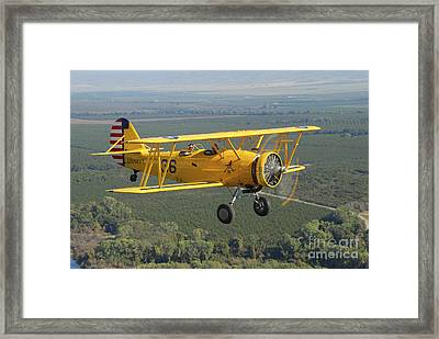 U.s. Navy N3n-3 Flying Over Chico Framed Print by Phil Wallick