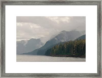 Usa, Ak, Inside Passage Framed Print