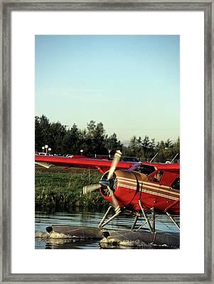Usa, Alaska, Float Plane, Anchorage Framed Print by Gerry Reynolds