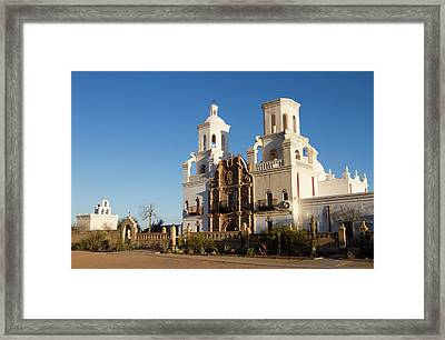 Usa, Arizona Mission San Xavier Del Framed Print by Luc Novovitch