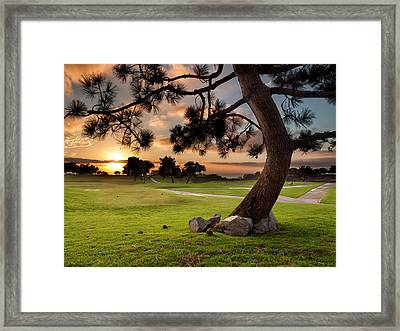 Usa, California, La Jolla, Sunset Framed Print by Ann Collins