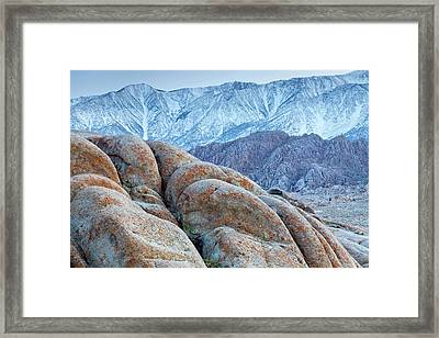 Usa, California, Lone Pine Framed Print