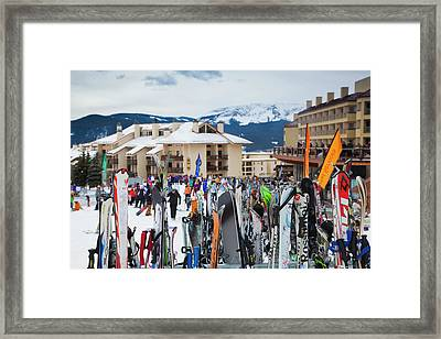 Usa, Colorado, Crested Butte, Mount Framed Print by Walter Bibikow