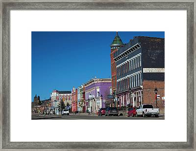 Usa, Colorado, Leadville, Downtown Framed Print by Walter Bibikow