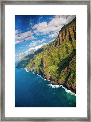 Usa, Hawaii, Kauai, Aerial Framed Print by Terry Eggers
