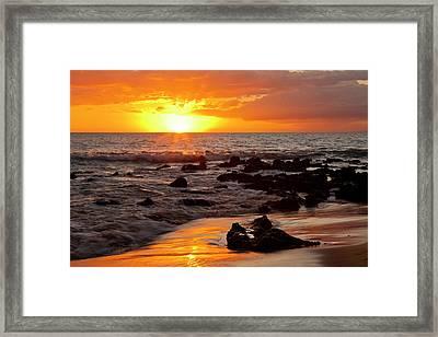 Usa, Hawaii, Maui, Kihei Framed Print