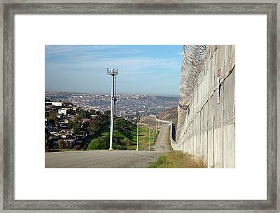 Usa-mexico Border Surveillance Framed Print