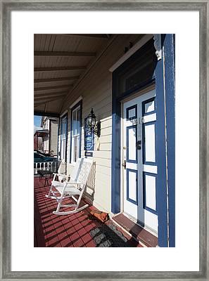 Usa, Nevada Edith Palmer's Country Inn Framed Print by Michael Defreitas