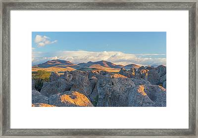 Usa, New Mexico, City Of Rocks State Framed Print by Jaynes Gallery