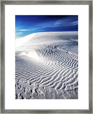 Usa, New Mexico, White Sands National Framed Print