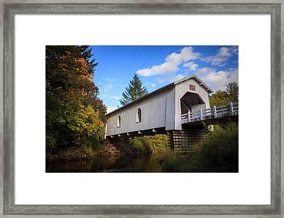 Usa, Oregon, Scio, Hoffman Bridge Framed Print