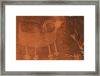Usa, Utah Prehistoric Petroglyph Rock Framed Print by Jaynes Gallery