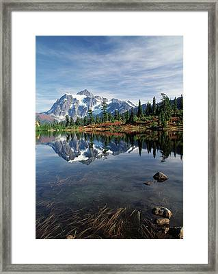 Usa, Washington State, North Cascades Framed Print