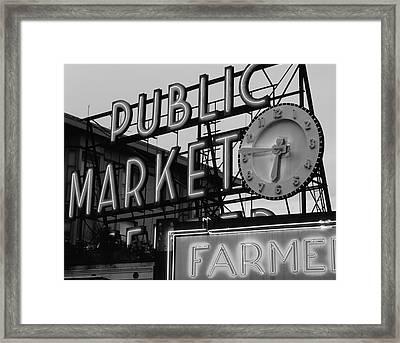 Usa, Washington State, Seattle, View Framed Print