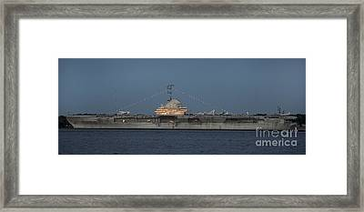 Uss Yorktown Aircraft Carrier At Patriots Point Naval And Maritime Museum Framed Print by David Oppenheimer