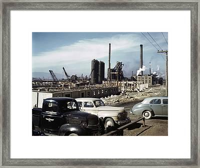 Utah Steel Mill, 1942 Framed Print by Granger