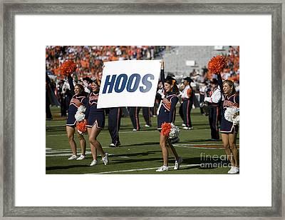 Uva Virginia Cavaliers Cheerleaders Framed Print