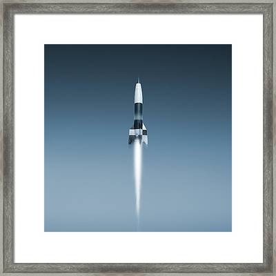 V-2 Rocket Launch, Artwork Framed Print by Science Photo Library