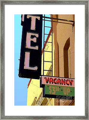 Framed Print featuring the digital art Vacancy by Valerie Reeves