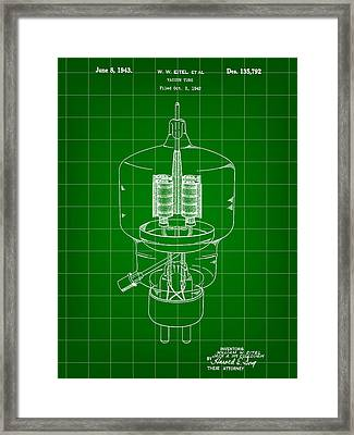 Vacuum Tube Patent 1942 - Green Framed Print by Stephen Younts
