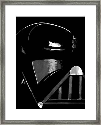 Framed Print featuring the painting Vader by Dale Loos Jr