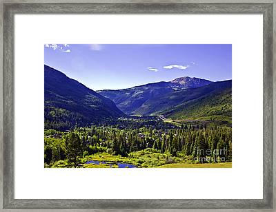 Vail Valley View Framed Print