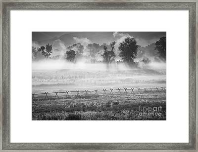 Valley Mists Framed Print
