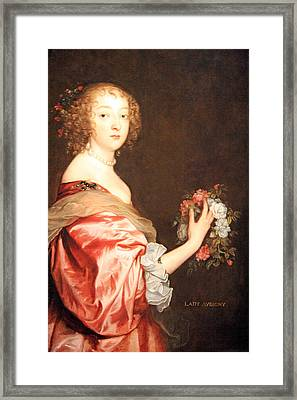 Van Dyck's Catherine Howard -- Lady D'aubigny Framed Print by Cora Wandel