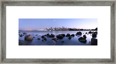 Vancouver From Stanley Park Framed Print by Dan Breckwoldt