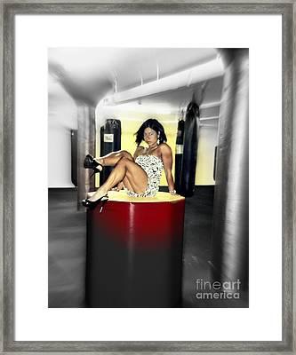Vanessa's Vision Framed Print by Sue Rosen