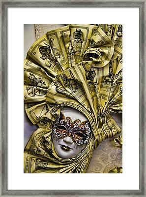 Venetian Carnaval Mask Framed Print